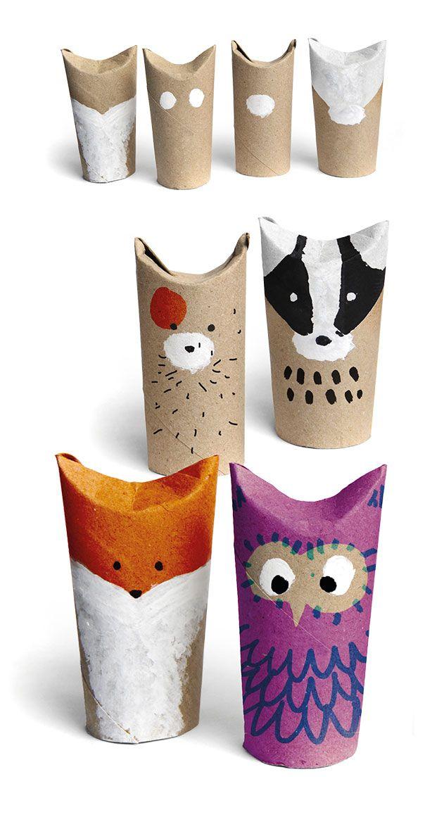 Reciclando rollos de papel higi nico mycutecorner - Manualidades rollos de papel higienico ...